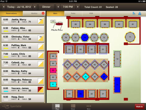 Restaurants Tiffany Stone - Restaurant table management system