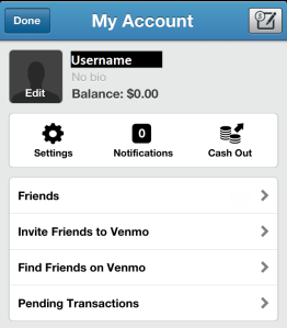 Venmo Account View