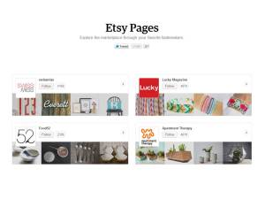 Etsy Pages